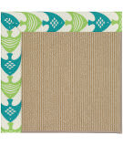 Capel Zoe Sisal 1995 Angel Fish Green Area Rug