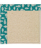 Capel Zoe Beach Sisal 2009 Sea Green Area Rug