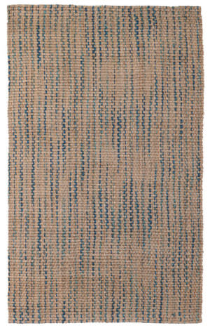 Classic Home Ladera Stripe 3004 Navy - Turquoise Area Rug