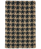 Classic Home Houndstooth 3003 Black Area Rug