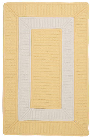 Colonial Mills Rope Walk Cb90 Yellow Area Rug