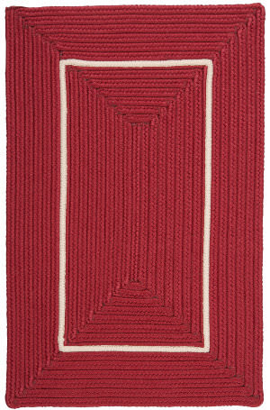 Colonial Mills Doodle Edge Fy72 Red Area Rug