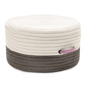 Colonial Mills Color Block Pouf Fr11 Gray/Pink