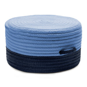 Colonial Mills Color Block Pouf Fr81 Navy/Blue