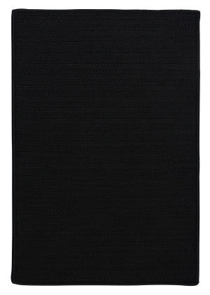 Colonial Mills Simply Home Solid H031 Black Area Rug