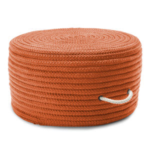 Colonial Mills Simply Home Solid Pouf Ho73 Orange