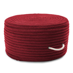 Colonial Mills Simply Home Solid Pouf H578 Red