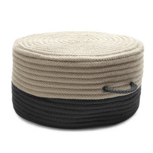 Colonial Mills Two-Tone Pouf On01 Black