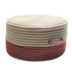 Colonial Mills Two-Tone Pouf On71 Brick