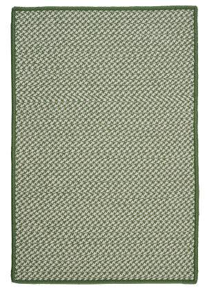 Colonial Mills Outdoor Houndstooth Tweed Ot68 Leaf Green Area Rug