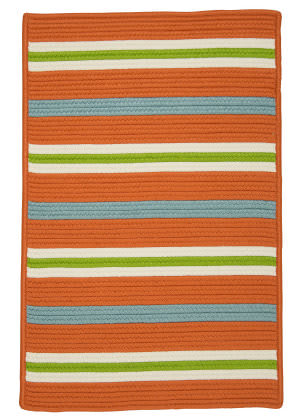 Colonial Mills Painter Stripe Ps21 Tangerine Area Rug