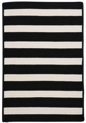 Colonial Mills Stripe It Tr89 Black White Area Rug