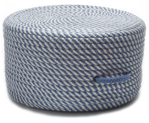 Colonial Mills Bright Twist Pouf Uf51 Blue Ice/White