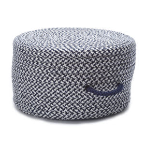 Colonial Mills Houndstooth Pouf Uf59 Navy