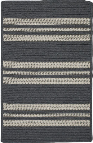 Colonial Mills Sunbrella Southport Stripe Uh49 Granite Area Rug