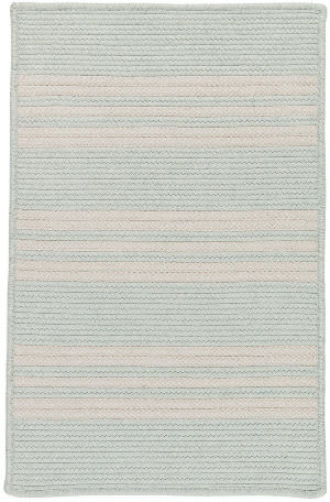 Colonial Mills Sunbrella Southport Stripe Uh69 Sea Area Rug