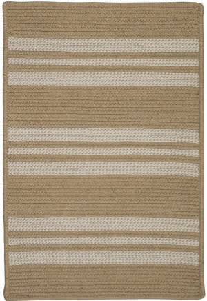 Colonial Mills Sunbrella Southport Stripe Uh99 Wheat Area Rug