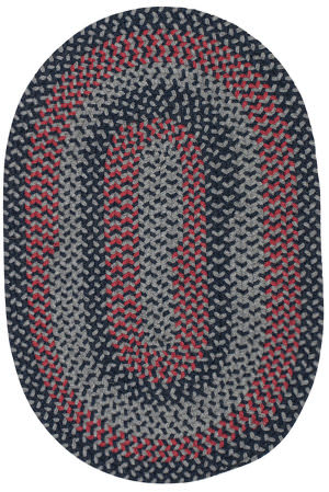 Colonial Mills Walden Wn53 Navy/Red Area Rug