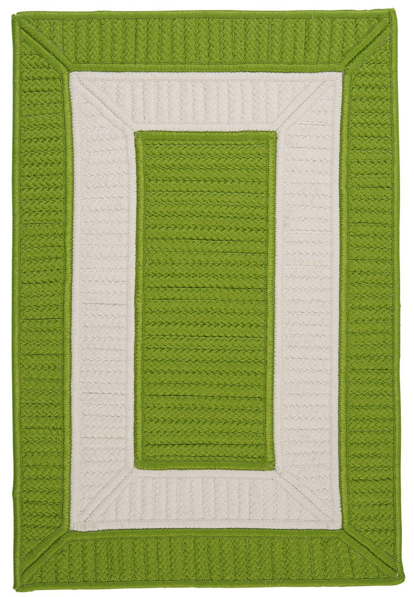Colonial Mills Rope Walk Cb91 Bright Green Area Rug 160631