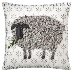 Company C Black Sheep Pillow 10764 White