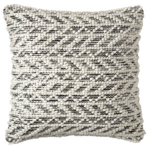 Company C Herringbone Berber Pillow 10781 Black