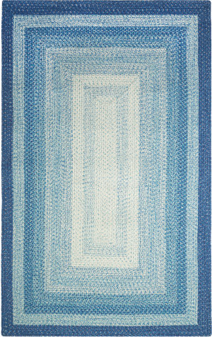 Company C French Braid 10820 Blue Area Rug