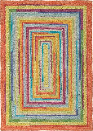 Company C Concentric Squares 18143 Multi Area Rug