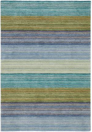 Company C Brushstroke 18695 Blue Area Rug