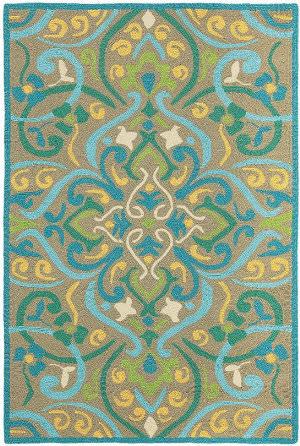 Company C Morocco 19043 Aqua Area Rug