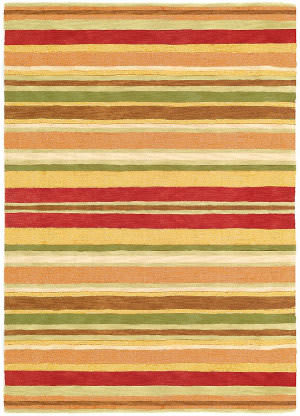 Company C Sheffield Stripe 19045 Poppy Area Rug
