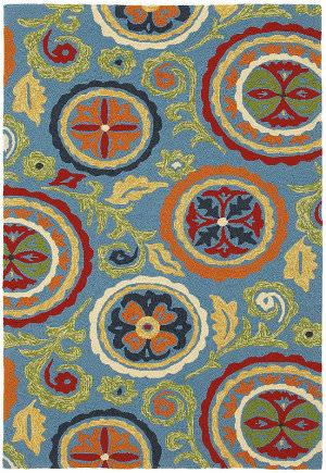 Company C Fair Winds 19198 Blue Area Rug