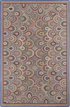 Company C Colorfields Clamshells 19328 Multi Area Rug
