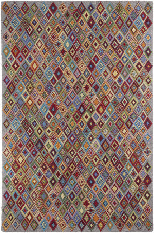 Company C Colorfields Argyle 19329 Multi Area Rug