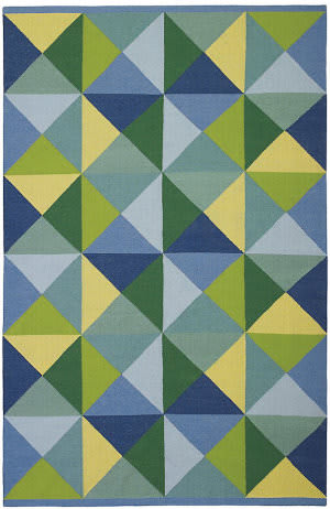 Company C Diamonds In The Rough 19406 Blue Area Rug