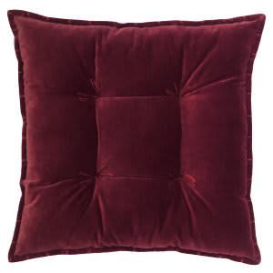 Company C Talia Velvet Pillow 10736 Burgundy