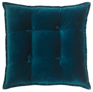 Company C Talia Velvet Pillow 10736 Teal