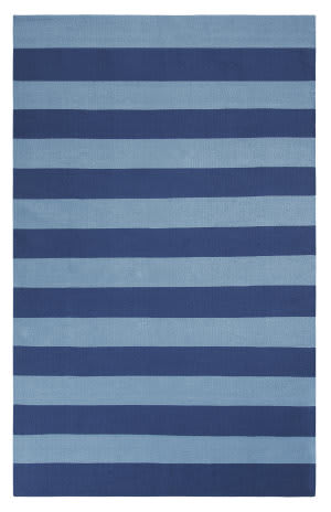 Company C Awning Stripe 10296 Navy Area Rug
