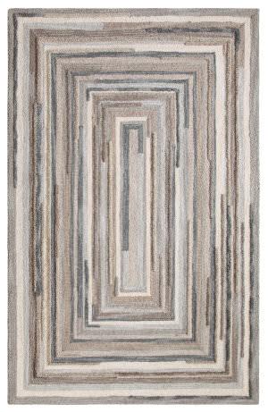 Company C Concentric Square 18143 Gray Area Rug