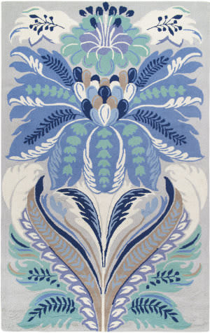 Company C Passionflower 19543 Blue Area Rug