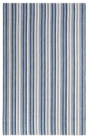 Company C Ticking Stripe 10730 Indigo Area Rug
