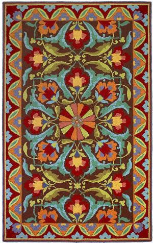 Company C Porcelain 18700 Mocha Area Rug
