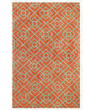Company C Diamond Lattice 10762 Coral Area Rug