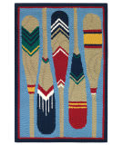 Company C Paddles 10770 Blue Area Rug