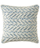 Company C Herringbone Berber Pillow 10781 Blue
