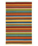 Company C Cabana Stripe 18987 Orange Area Rug