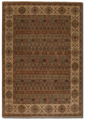 Couristan Jangali Arabesque Tile Multi Cream Area Rug
