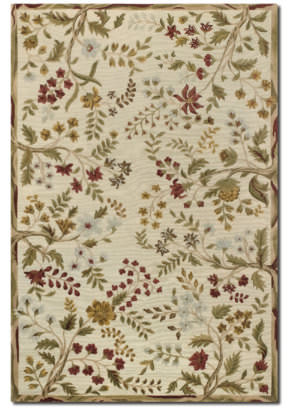 Couristan Eden Summer Vines Ivory - Ruby Area Rug
