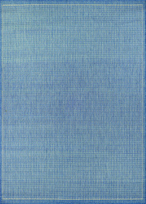 Couristan Recife Saddlestitch Champagne - Blue Area Rug