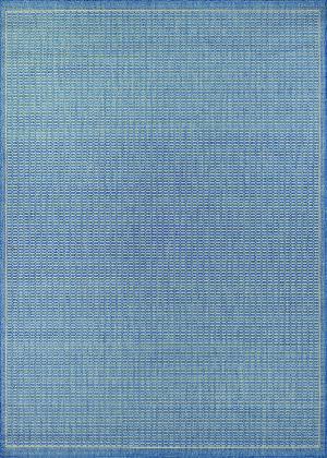 Couristan Recife Saddlestitch Champagne - Blue Area Rug