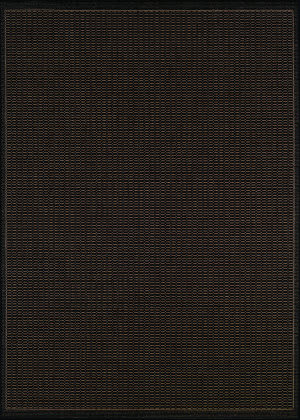 Couristan Recife Saddlestitch Black - Cocoa Area Rug
